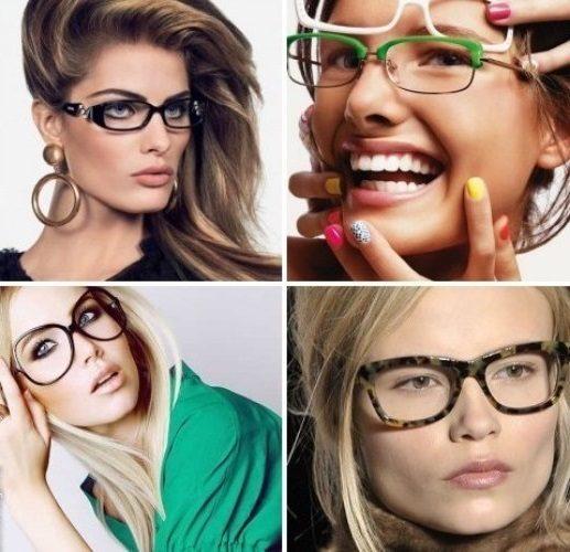 Как должны сидеть очки на лице женщины